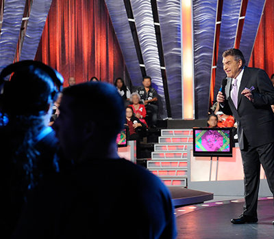 Don Francisco filming his show