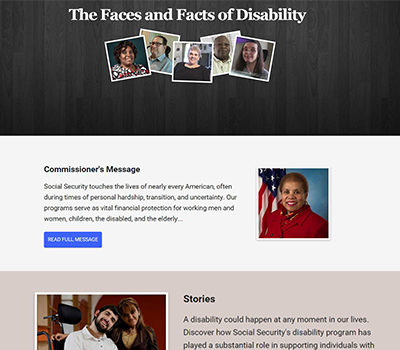 The Faces and Facts of Disability Homepage