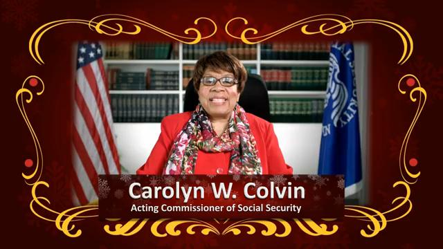 A picture of the Acting Commisioner of Social Security linking to her YouTube holiday message.