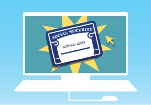 clip art of a social security card