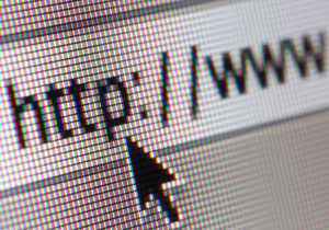 Graphic of address bar on computer with cursor arrow, Shooting computer screen