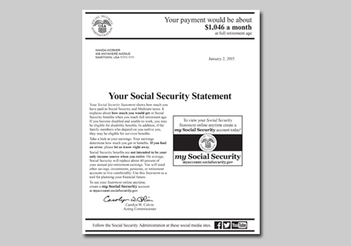 Your Social Security Statement Is Now At Your Fingertips Social Security Matters