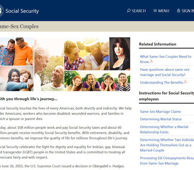 A screenshot of the SSA Same-Sex Couples page