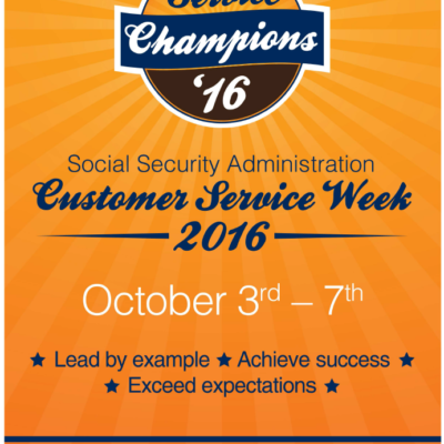 SSA Customer Service Week Infographic