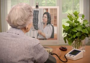 elderly woman on computer
