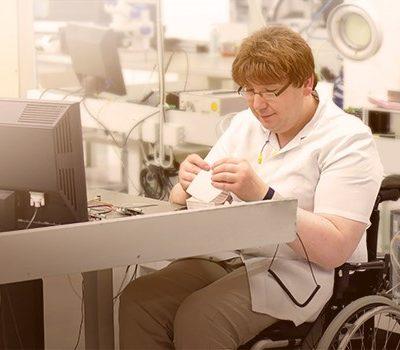 A man sitting in wheelchair