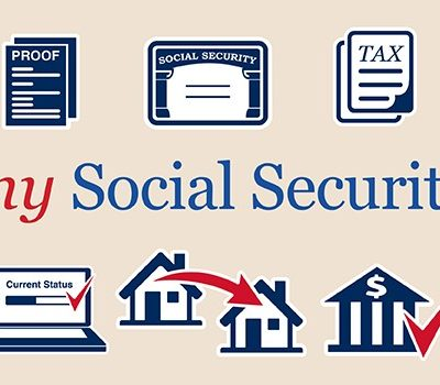 A graphic displaying text that reads: my Social Security