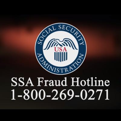 SSA Fraud Hotline 1-800-269-0271