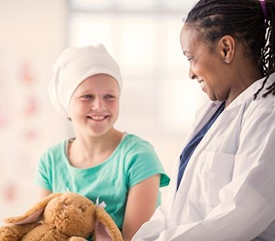 A doctor sharing a smile with a patient