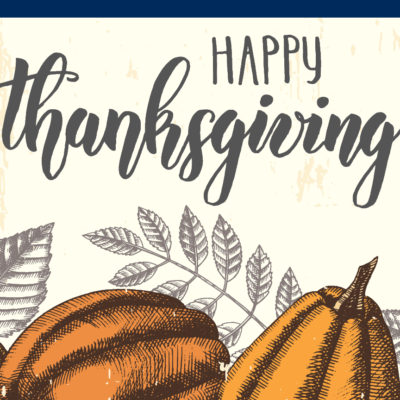 Text that reads: Happy Thanksgiving