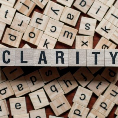 Word blocks that spellout: Clarity